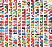 Flags and wave — Vector de stock