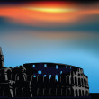 Colosseum at the sunset — Stock Vector