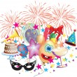 Party and celebration event — Stock Vector