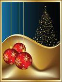 Feliz navidad y feliz año nuevo — Vector de stock
