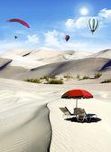 Holiday in the desert — Stock fotografie
