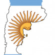 Argentina flag and map - Stock Vector