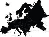 Mapa de europa — Vector de stock