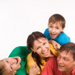 Family on a carpet — Stock Photo #10934175