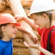 Young workers work — Stock Photo