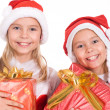 Two girls with gift — Stock Photo #10934439