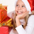 Girl with presents — Stock Photo #10934442
