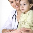 Doctor with a good kid with — Stock Photo