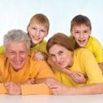 Family at floor — Stock Photo #10935035