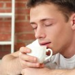 Nice guy with tea — Stock Photo #10935098