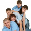 A happy family of five — Stock Photo #10936043