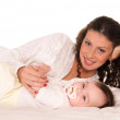 Mom and baby — Stock Photo