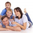 Family on white — Stock Photo