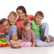 Cute family portrait — Stock Photo #10936773