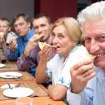 Big family at table — Stock Photo #10937836