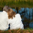 Royalty-Free Stock Photo: Lovely old couple at lake