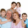 Stock Photo: Most nice Caucasifamily happy fool