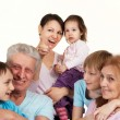 Most luck Caucasian family happy fool — Stock Photo #10939670