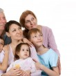 Most joy Caucasian family happy fool — Stock Photo #10939671