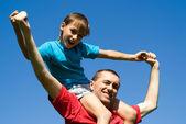 Vader en zoon — Stockfoto