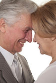 Portrait of a man and a lady standing — Stock Photo