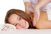 Beautiful young girl does spa — Stock Photo