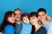Caucasian beautiful good family consisting of five togeth — Stock Photo