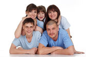 A happy family of five — Stock Photo