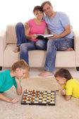 Kids and chess — Stock Photo