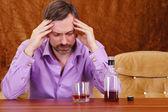 Man getting drunk — Stock Photo