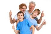 счастливый, бабушки и дедушки с внуками в заблуждение — Стоковое фото