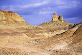 Xinjiang, china: rock formation in qitai ghost town — Stock Photo