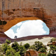Excitement at Wilson's Arch, Utah — Stock Photo