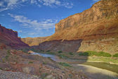 Colorado River Flowing Through Canyons in Utah HDR — Stock Photo