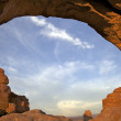 North Window, Arches N.P. - Stock Photo