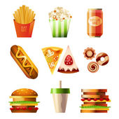 Fast-food set — Stockvector