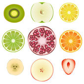 Fruit Slice Set — Stock Vector