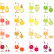 Stock Vector: Fruit Juice Icon Set