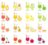 Fruit Juice Icon Set — Stock Vector