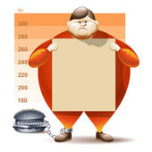 Condemned To Obesity — Stock Vector