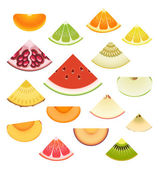 Fruit Wedge Set — Stok Vektör