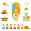Royalty-Free Stock Vector Image: Spa Accessory Set