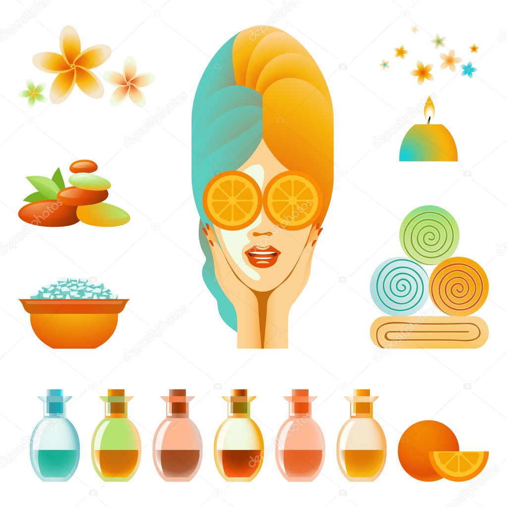 Collection of body care and skin care items  Imagens vectoriais em stock #11895654