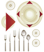 Dinnerware — Stock Vector