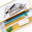 Metal pencil case — Foto Stock
