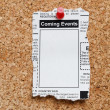 Stock Photo: Coming Events Classifieds