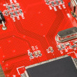 Red Circuit Board - Stock Photo