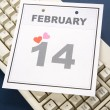 Calendar Valentine's Day — Stock Photo