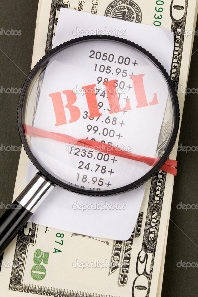 Bills and dollars Close up shot, financial concept — Stock Photo #11080699