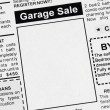 Garage Sale — Stockfoto